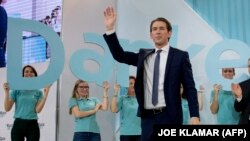 Себастьян Курц, лидер Австрийской народной партии (OeVP).