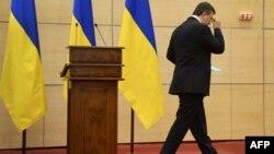 Громадянин Віктор Янукович після прес-конференції в Ростові-на-Дону, Росія, 11 березня 2014 року