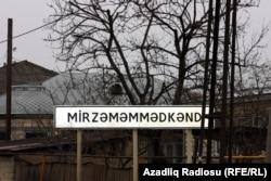 Vüqar Qonaqovun yaşadığı Mirzəməmmədkənd kəndi