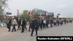 Бектур Асановдун жактоочуларынын митинги