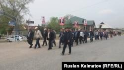Пеший марш в защиту Бектура Асанова, 17 апреля 2017 г.