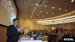 Vuk Jeremić na predavanju na Fakultetu za poslovne studije u Beogradu, 22. mart 2010. Foto: Vesna Anđić