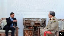 Башар Асад и новый министр обороны Сирии