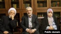 مهدی کروبی، میرحسین موسوی و زهرا رهنورد