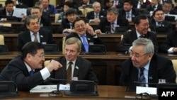 Сенат депутаттарының отырысы. Астана, 14 қаңтар 2011 жыл. (Көрнекі сурет)