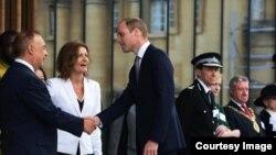 Леонард Блаватник отрывает новое здание своей школы в Оксфорде. Май, 2016
