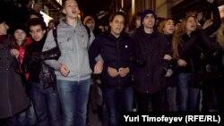 Акция протеста в Москве против итогов выборов в Госдуму