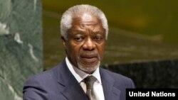 БҰҰ-ның Сирия бойынша өкілі Кофи Аннан.