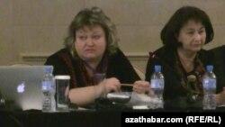 Türkmenistanyň Döwlet habarlar gullugynyň habarçysy Irina Salnikowa