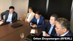 """Участники форума """"Новый Казахстан"""". Брюссель, 9 апреля 2018 года."""