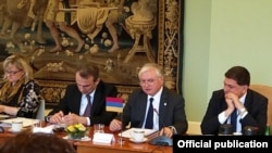 Czech Republic - Armenian Foreign Minister Edward Nalbandian speaks at a meeting of the EU Eastern Partnership and Visegrad Four Foreign Ministers' meeting in Prague, 4May, 2016