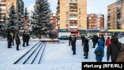 Krasnoyarskda mitinq