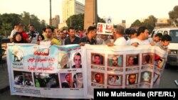 محتجون ضد الحكومة المصرية في القاهرة