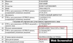 Учредительные документы севастопольского собственника ООО «Интерстрой»