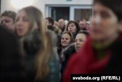 Вернікі на службе айца Часлава Паўлюкевіча ў горадзенскім Касьцёле Сьвятога Духу