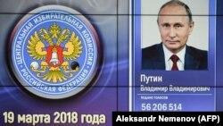 Орусиянын Борбордук шайлоо комиссиясындагы көрсөткүч. 19-март, 2018-жыл.