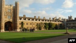 Вид на колледж Кембриджского университета.