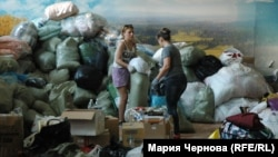 В пункте сбора помощи пострадавшим от наводнения в Иркутске