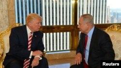 Donald Trump (majtas) dhe Benjamin Netanyahu gjatë një takimi në Nju Jork në shtator të këtij viti