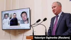 """SBU chief Vasyl Hrytsak said agents thwarted """"a sabotage and reconnaissance terrorist group of the Russian special services."""""""