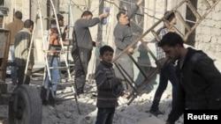 Сирійське Алеппо після бомбардування, 18 лютого 2016 року
