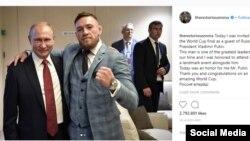 UFC-н латархо Макрегор Конор Оьрсийчоьнан президентца Путин Владимирца.