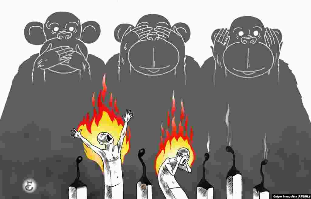 2015 жылы жиілеген өзін-өзі өртеу акциясын көбіне билік орындарынан әділет пен араша тілеген адамдар жасады.