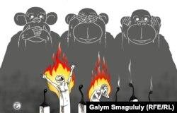 Ғалым Смағұлұлы салған карикатура