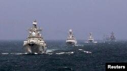 Спільні військово-морські навчання Китаю та Росії (архівне фото)