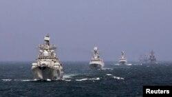 Совместные военно-морские учения Китая и России (архивное фото)