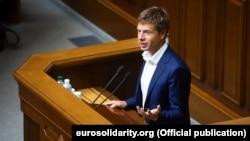 Алексей Гончаренко на трибуне Верховной Рады Украины