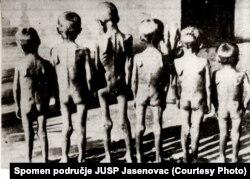 Дети-заключенные концлагеря Ястребарско. Фото 1942 года