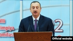 Azerbaijan -- President Ilham Aliyev at the National Olympic Committee in Baku, 19Dec2012