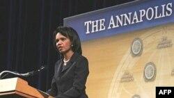 Condoleezza Rice Annapolis cıyınında çığış yasıy, 27.11.2007