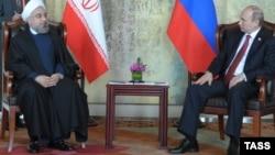 Рускиот претседател Владимир Путин и иранскиот претседател Хасан Рохани