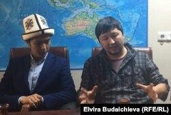 Эрлан Байанов на встрече с кыргызстанскими студентами.