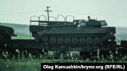 Российское вооружение на Керченской переправе в Крыму