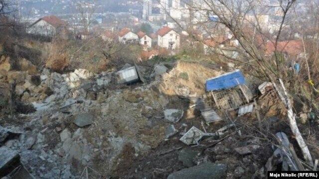 Klizište u Tuzli iz 2010. godine, arhivska fotografija
