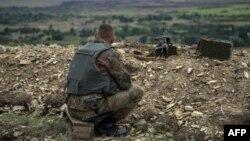 Український військовий біля Попасної