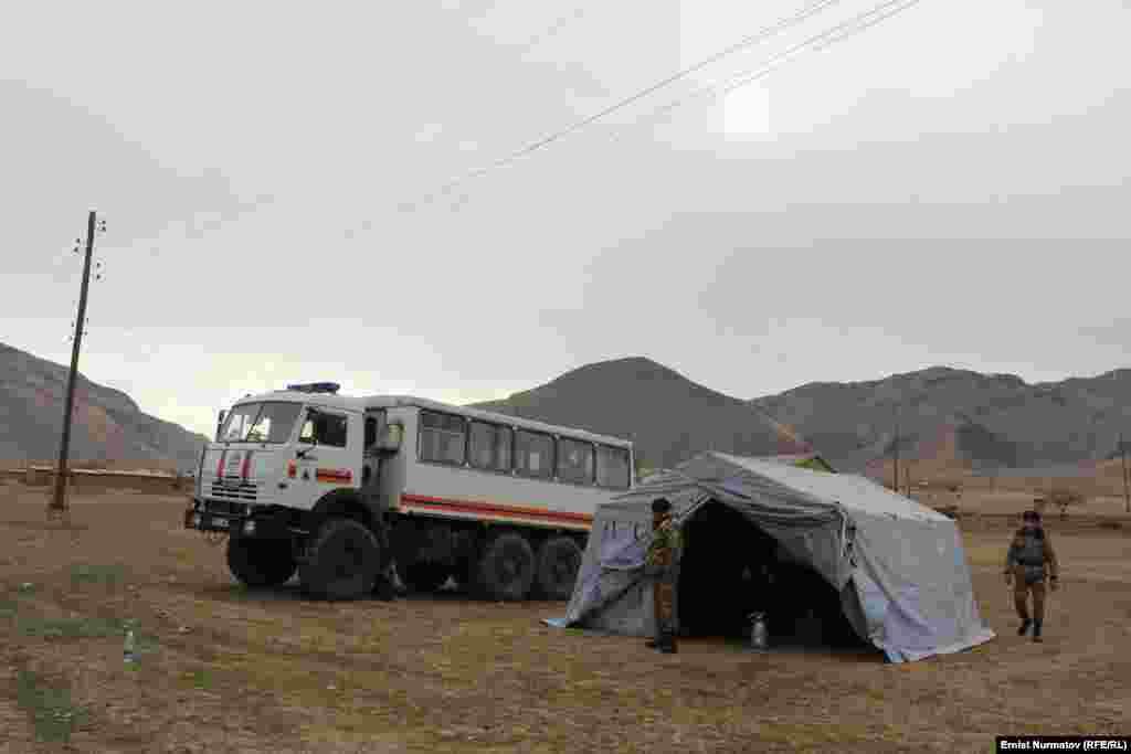 Штаб МЧС в селе Кызыл-Суу.