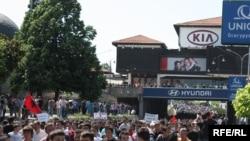 Од последните протести на албанските Невладини Организации во Скопје