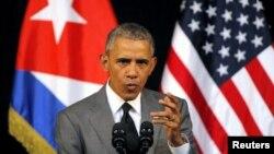 Presidenti i Shteteve të Bashkuara, Barack Obama. Havana, 22 mars 2016.
