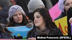 Žene na jednom od skupova u Sarajevu, 2011.