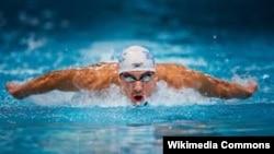 Американский пловец Майкл Фелпс.