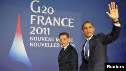 Претседателите на Франција и САД, Саркози и Обама