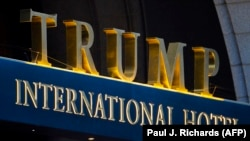 Шыльда «Trump International Hotel» у Вашынгтоне