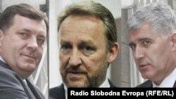 Predsjednik Republike Srpske Milorad Dodik i članovi Predsjedništva BiH Bakir Izetbegović i Dragan Čović