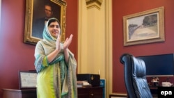 Nobel Peace Prize winner Malala Yousafzai at the U.S. Capitol in Washington on June 23.
