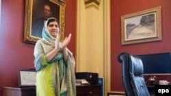 Nobel Peace Prize winner Malala Yousafzai at the U.S. Capitol in Washington on June 23.