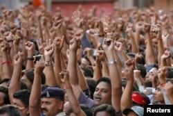 Сторонники Моди на митинге в штате Гуджарат